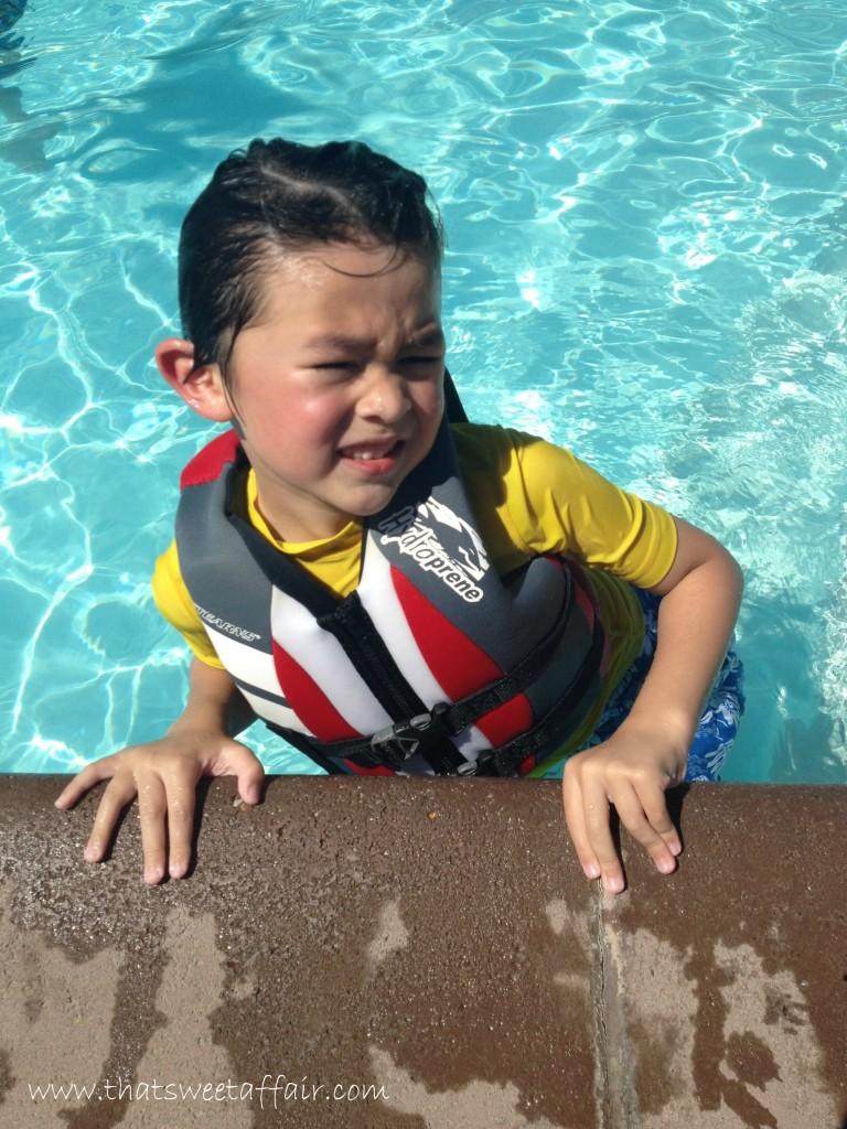 dylan swimming