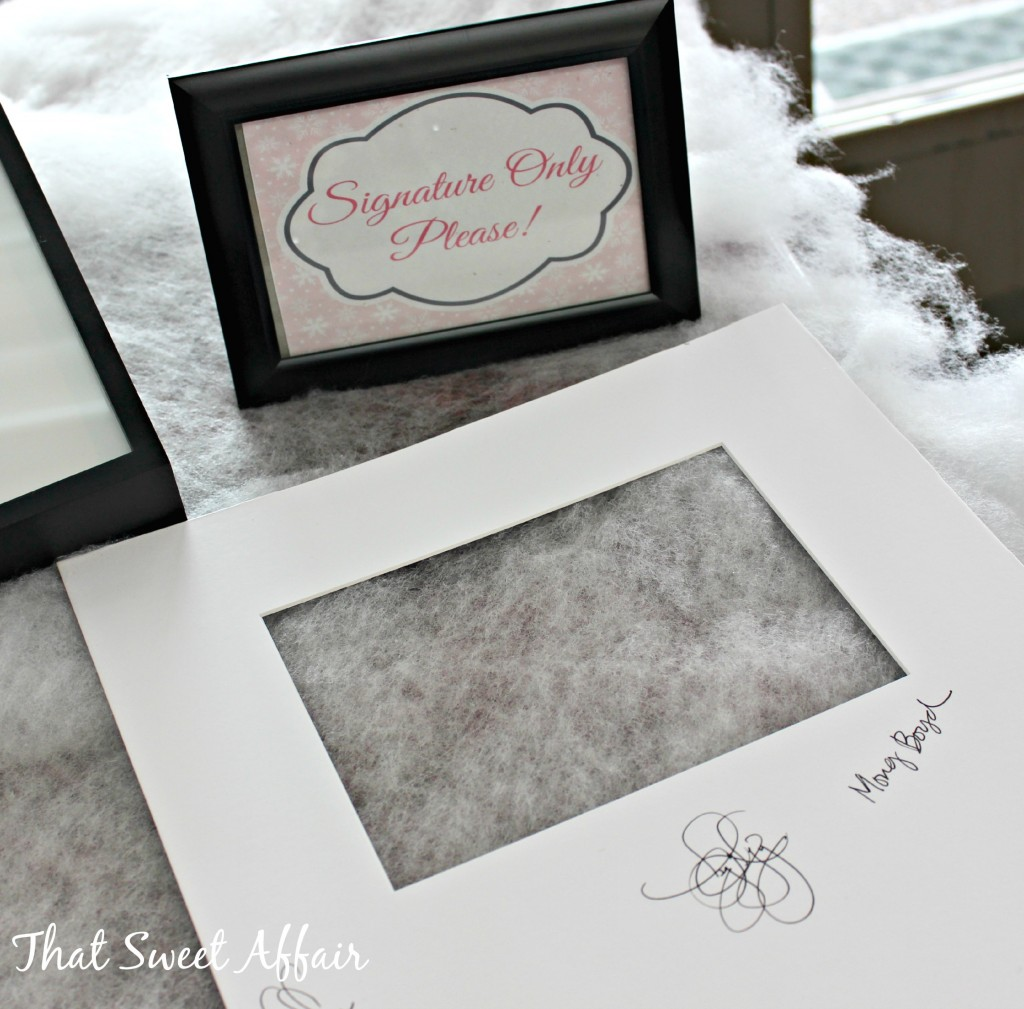baby shower signature frame